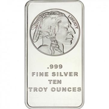 STM Silver 10 oz Buffalo Replica Bar