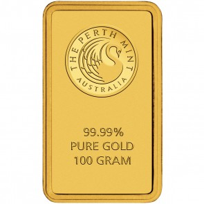 A 100 gram Kangaroo Minted Gold Bar is 47 mm by 27 mm.