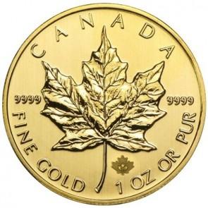 Canadian Gold Maple Leaf 1 oz Coin (Random Dates)