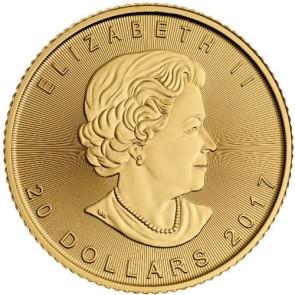 $20 Canadian Gold Maple Leaf One Half Ounce (1/2 oz) Coin - Dates Our Choice