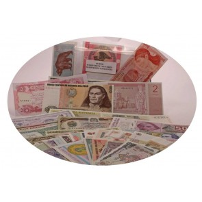 50 banknotes, 50 different countries (U)