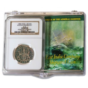 Admiral Gardner (1808) Shipwreck Treasure 10 Cash NGC Clear Box (Medium grade)