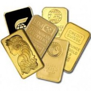 Generic 1 oz Gold Bars (carded)