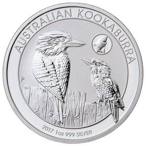 2017 1 oz Australian Silver Kookaburra Shark Privy Bullion Coin (BU)