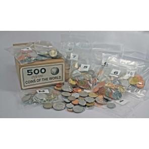 Set of 500 different world coins (U)