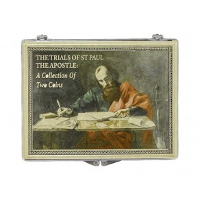 Trials of Saint Paul: Two Bronze Prutahs of Judaea Clear Box